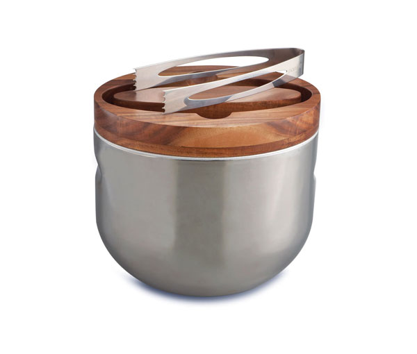 Mikko ice bucket with tongs by Namb