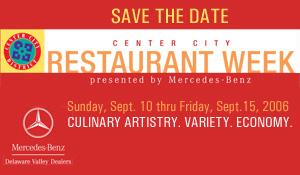 Save the Date - Center City Restaurant Week
