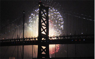 New Years Fireworks at Penns Landing
