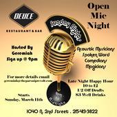 Deuce Open Mic Night