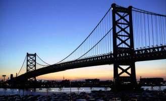 Ben Franklin Bridge Sunset