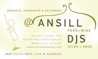 Ansill Food + Wine DJ Nights