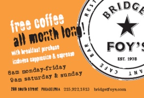 Free Coffee At Brigdget Foy's