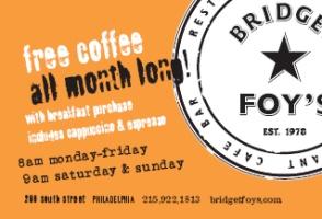 Free Coffee At Brigdget Foy's