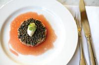 Salmon Tart at Bistrot La Minette