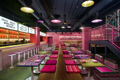 Downstairs bar and lounge at Distrito