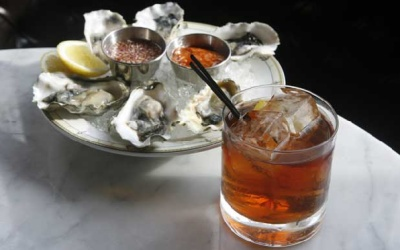 Vieux Carre with raw oysters at Village Whiskey - Photo by Charles Fox - Philly.com
