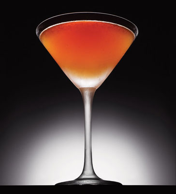 The Philly Flyer2 oz. Bluecoat Gin, 1/3 oz. Luxardo maraschino liqueur, 1/2 oz. fresh lemon juice, 1/4 oz. creme de cassis.  Tweet