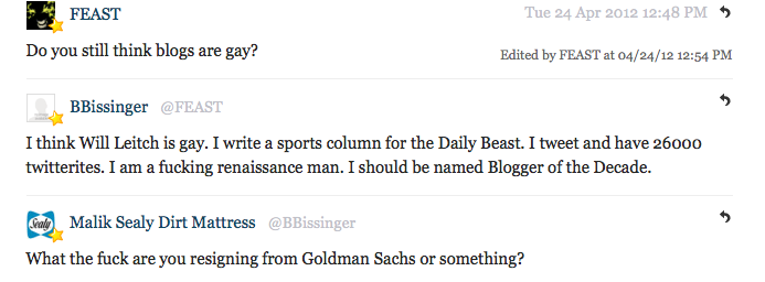 Buzz Bissinger Stops By Deadspin Comments: Calls Will Leitch Gay