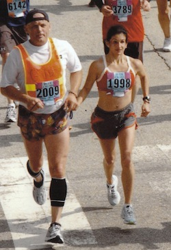Ivonne with her husband, John, at last year's Broad Street Run.