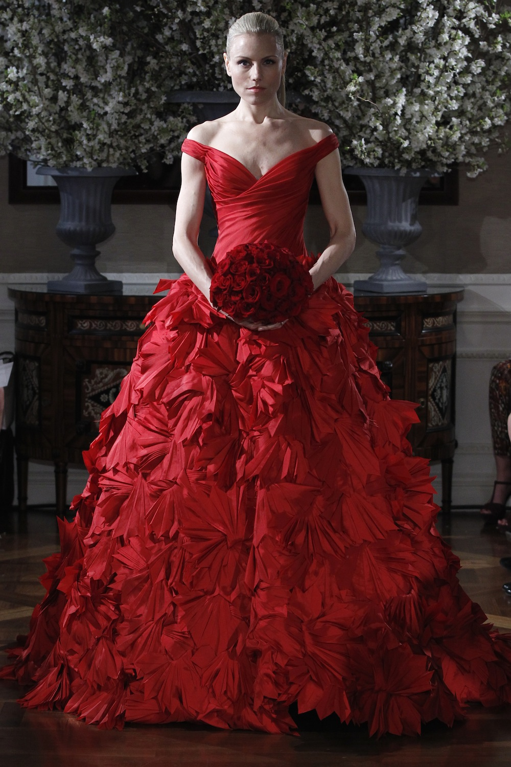 Red Wedding Gown From Romona Keveza's Spring 2013 Couture Bridal Collection