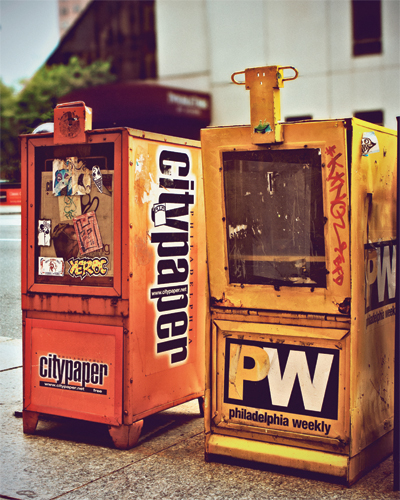 City Paper and Philadelphia Weekly, the city's two alternative weekly newspapers.