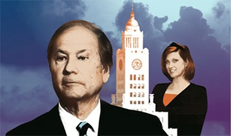 Inquirer owner Lewis Katz and investigative reporter Nancy Phillips | Philadelphia Magazine