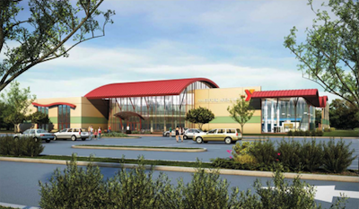 A rendering of the new YMCA facility