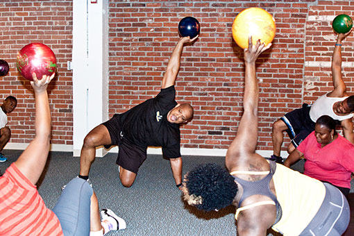 Bowling for Fitness at Sweat Fitness and Frames