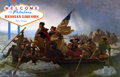 George Washington crossing the Delaware for booze
