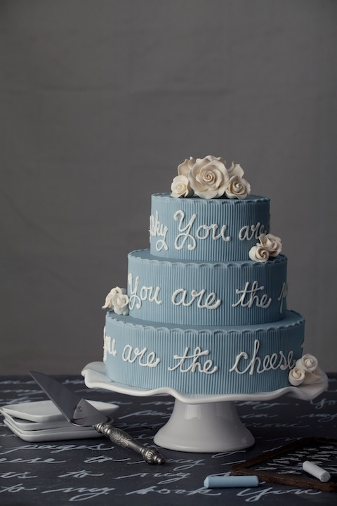 Wedding Cakes Personalized With Monograms, Quotes and Poems | Bridal Bulletin