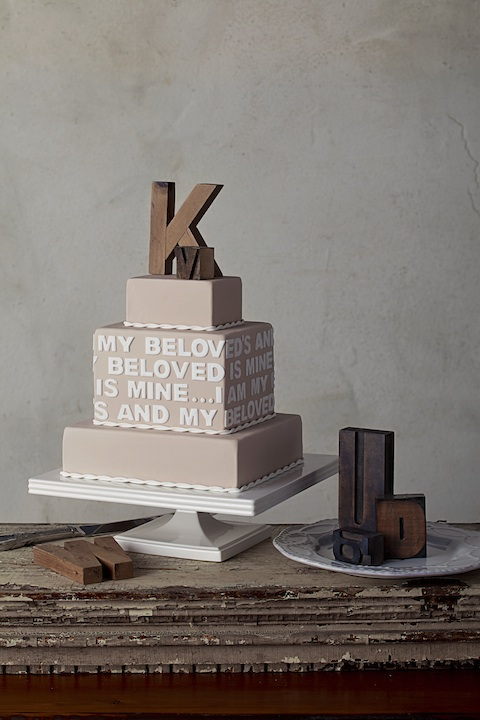 Wedding Cakes Personalized With Monograms, Quotes and Poems