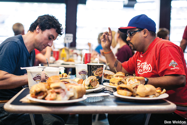Top Chef winner Kevin Sbraga eats at Citizens Bank Park