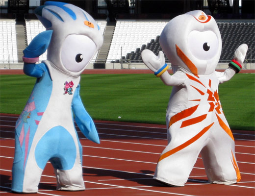 Olympic Mascots, Wenlock and Mandeville
