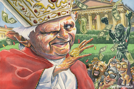 Pope Benedict is set to visit Philadelphia in 2015