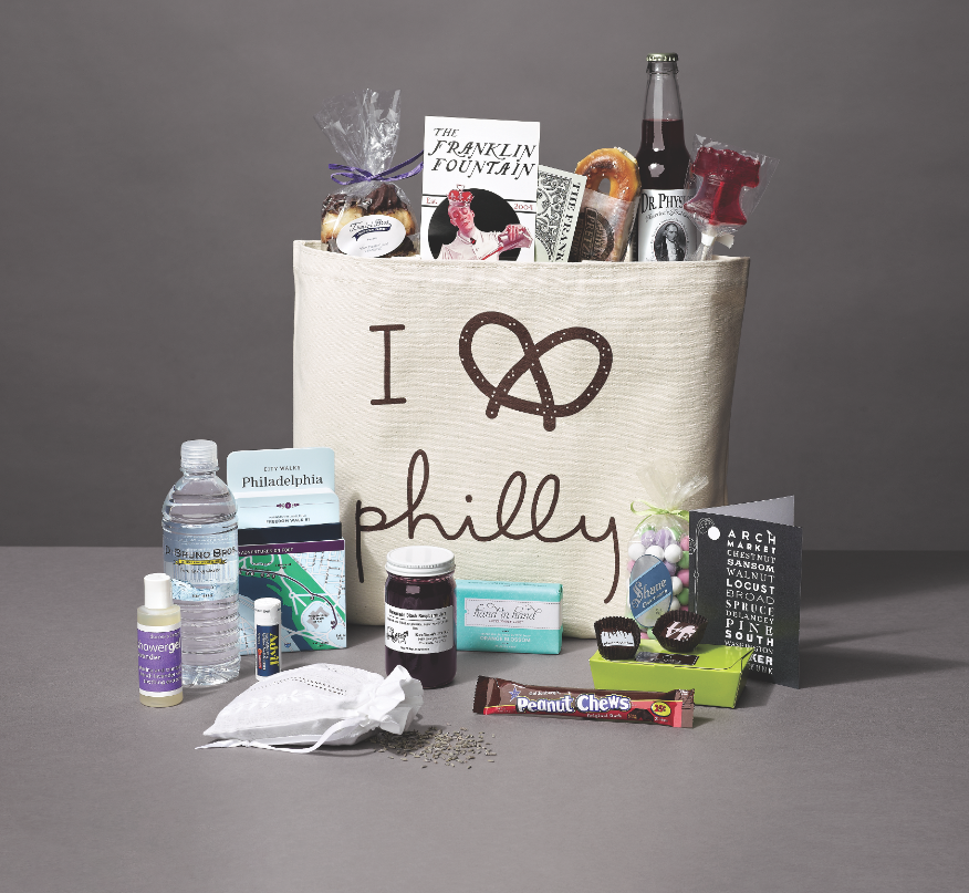 the best made in philly welcome bags for your out of town guests