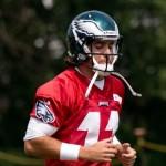 Philadelphia Eagles quarterback Trent Edwards.
