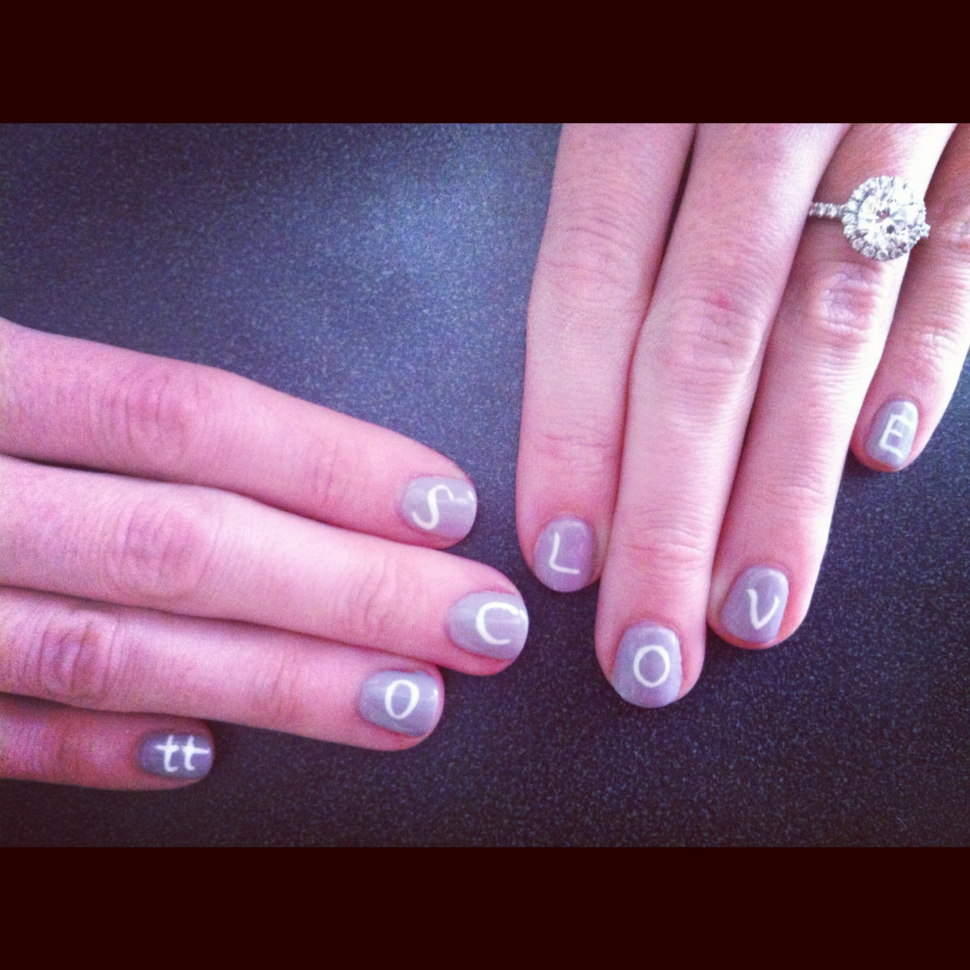 Show Your Love For Your Groom With Your Nail Polish!