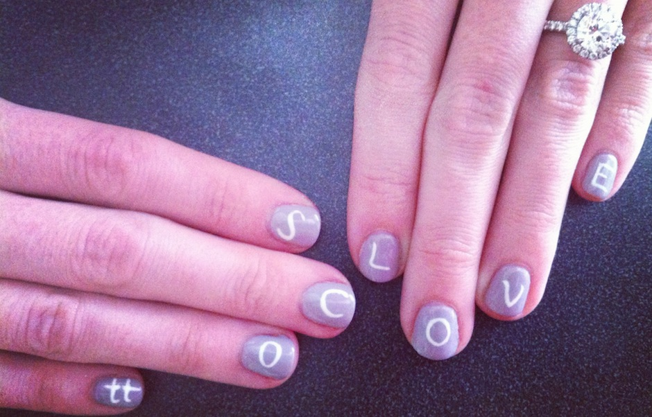PW photo editor Jess Hawkes shows her love for her fiance with this week's polish.