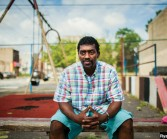 """Sean """"Frogg"""" Banks, an ex-gang member turned public speaker, in Philadelphia."""