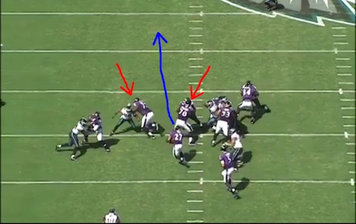 Ray Rice's 43-yard run.