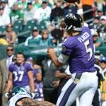 Baltimore Ravens QB Joe Flacco.