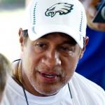 Philadelphia Eagles defensive coordinator Juan Castillo