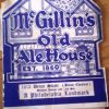 McGillin's Old Ale House menu from 1933