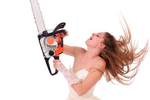 Crazy Bride Cuts Hair Fake 11