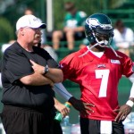Philadelphia Eagles head coach Andy Reid and quarterback Michael Vick