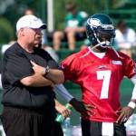 Philadelphia Eagles head coach Andy Reid and quarterback Michael Vick