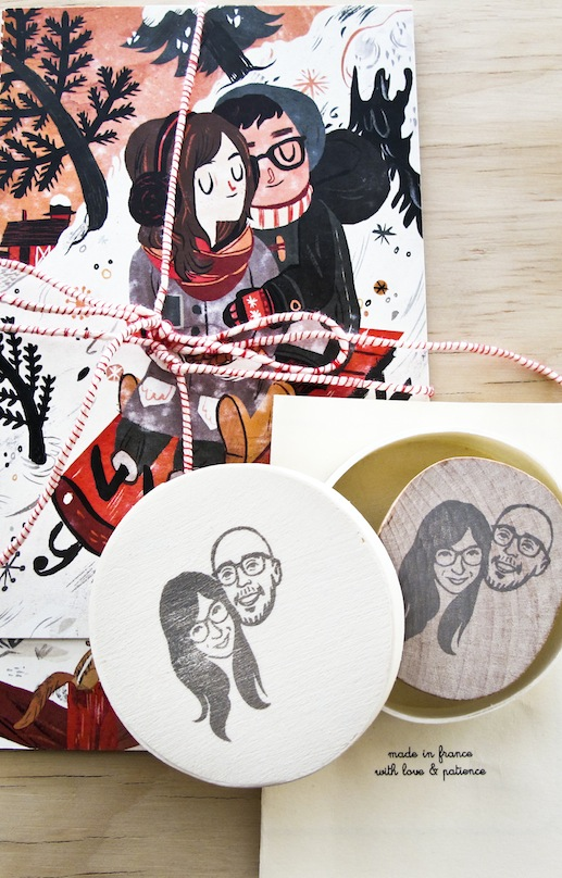 Our Current Obsession: Customizing Wedding Details With a Sketch of You and Your Groom!