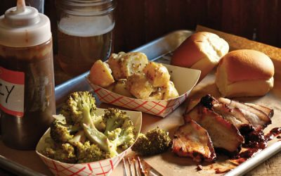 Stephen Starr's Fette Sau serves up some BBQ brisket and pork belly with classic southern sides.