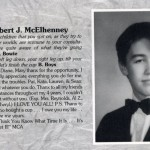 It's Always Sunny in Philadelphia's Rob McElhenney in the St. Joe's Prep high school yearbook.