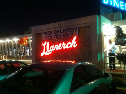 The Llanerch Diner.