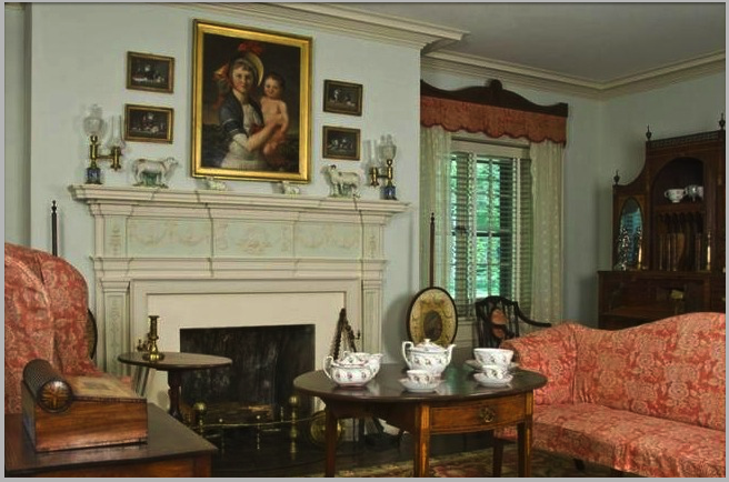 Interior With Early American Furniture
