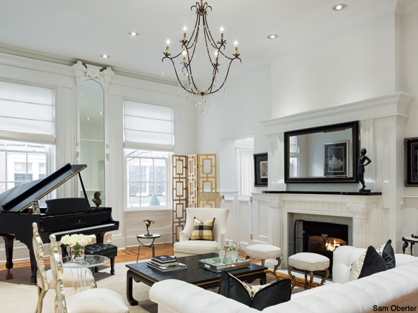 Fashionista and Katacomb: Vintage founder Brook Dillon's elegant Washington Square, Philadelphia living room, inspired by French Classical designs.