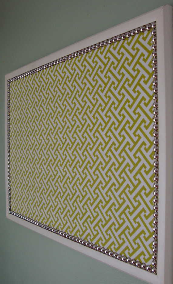 Use these so pretty custom made bulletin boards for your for Cork board pin display