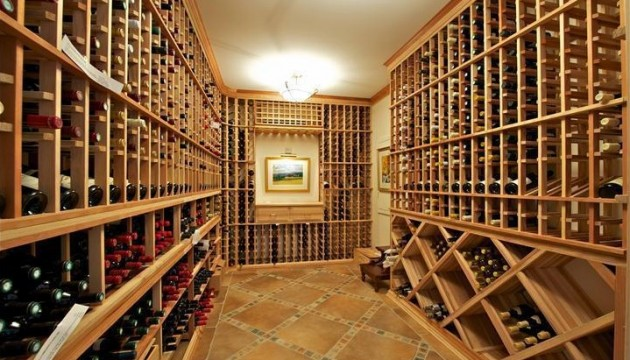 A wine cellar at 727 County Line Road, for sale in Villanova.