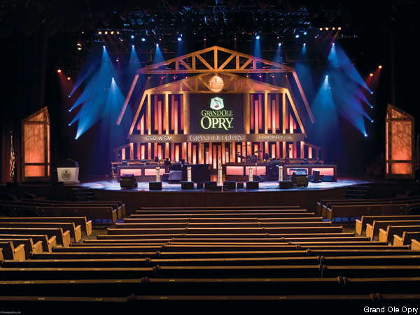 The Grand Ole Opry House in Nashville.