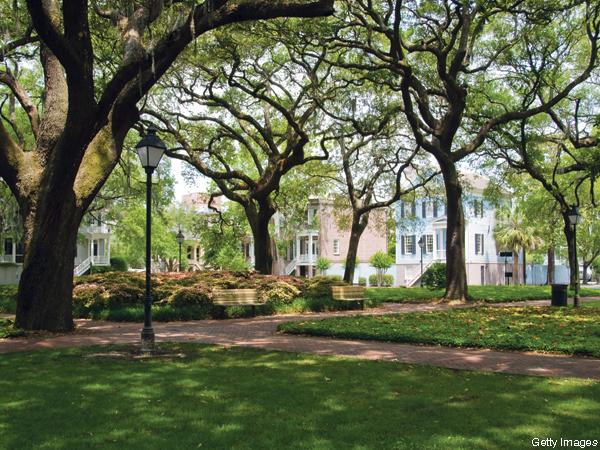 Monterey Square in Savannah George.