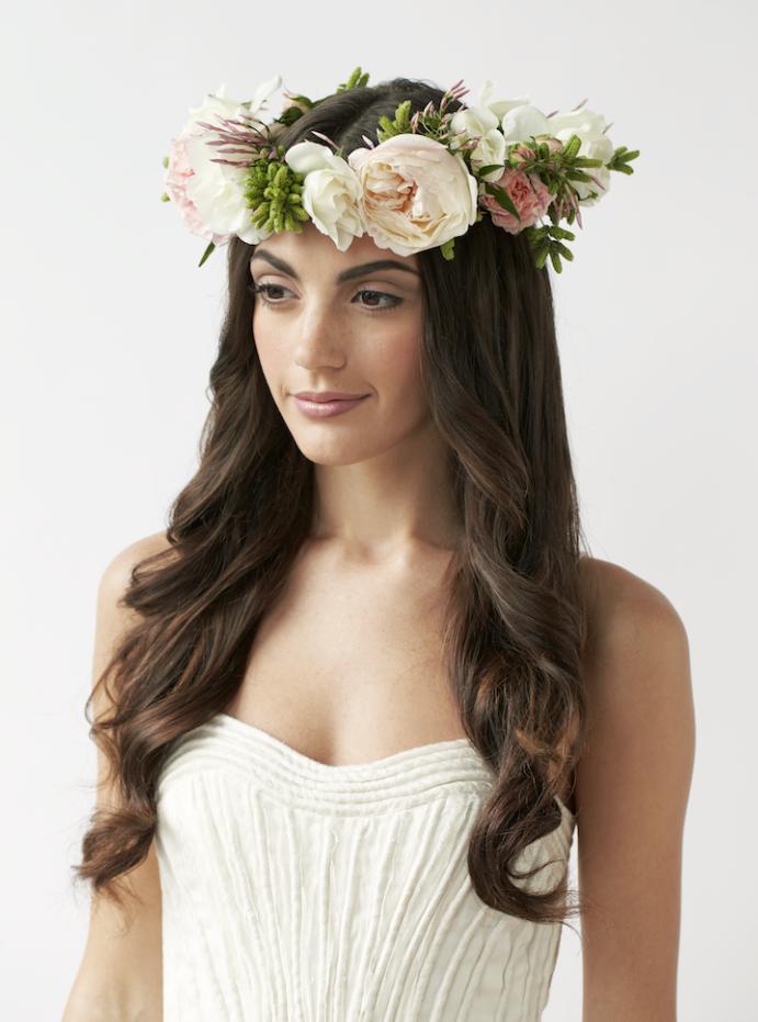We Love Fresh Flower Crowns for Warm Weather Weddings
