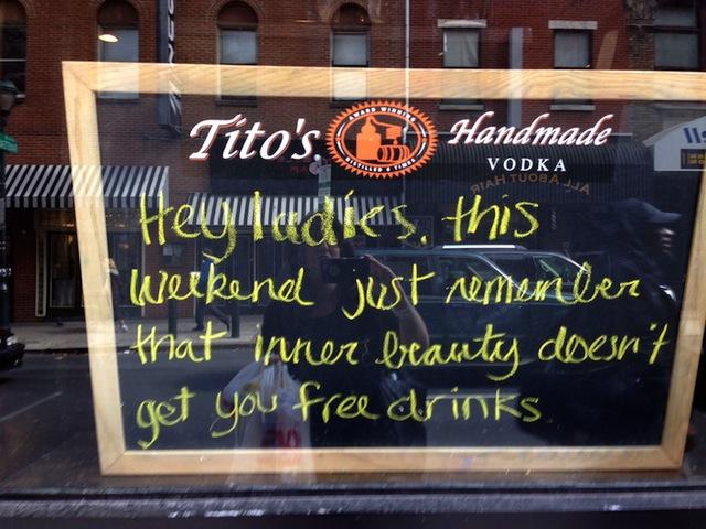 smiths restaurant chalkboard