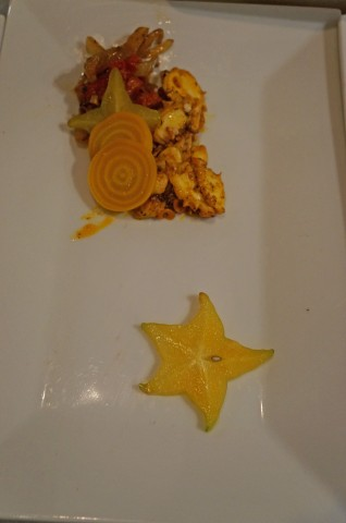 Octopus with Star Fruit from Jamie Wolf